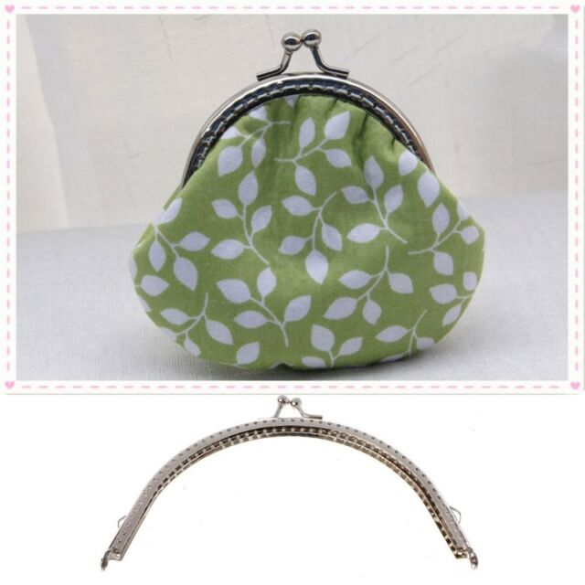 e4c9eee77a5 1PC Metal Frame Kiss Clasp Arch DIY Craft For Purse Bag Silver Tone 15cm