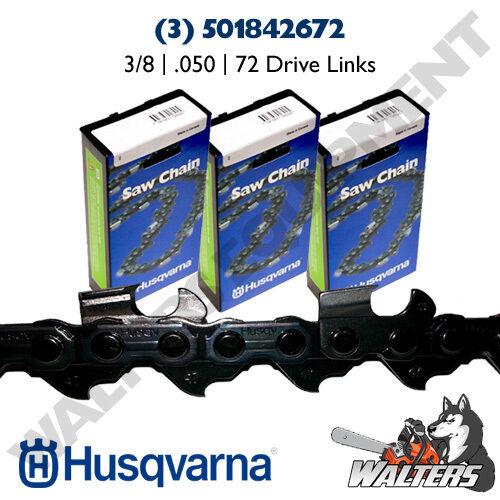 "Genuine Husqvarna 20/"" Chains H475018426723//8.050/""72 DL455 3"