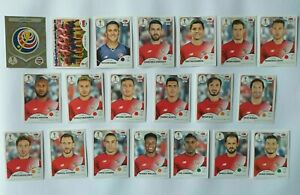 Panini-coupe-du-monde-2018-Costa-Rica-equipe-equipe-COMPLETE-SET-WORLD-CUP-WC-18