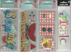U CHOOSE  Assorted Jolee's Me & my big ideas SUMMER TITLES 3D Stickers picnic
