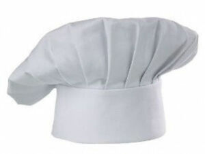 USA-SELLER-CLOTH-CHEF-HAT-ONE-SIZE-FITS-ALL-VELCRO-CLOSURER