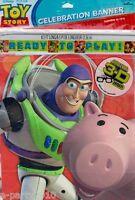 Toy Story Celebration Banner Birthday Party Supplies Disney Pixar Decorations