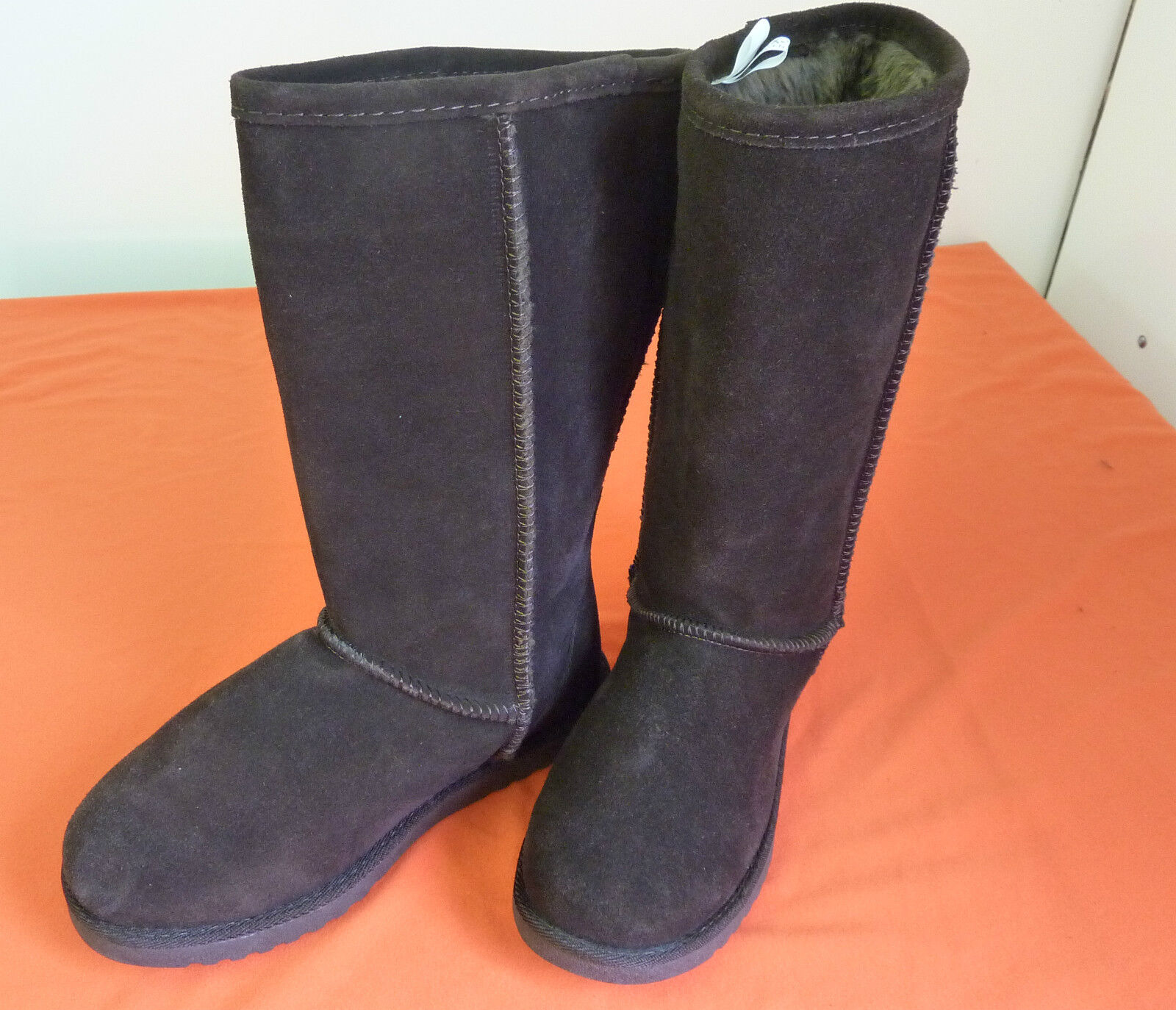 XHILARATION WOMEN'S (GENUINE SUEDE UPPER) BOOT,  WITH FAUX FUR LINING