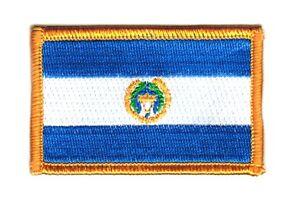 Parche bandera PATCH EL SALVADOR 7x4,5cm bordado termoadhesivo nuevo