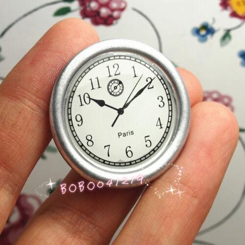 Dollhouse Miniature Toy Living Room A Silver Wall Clock Diameter 3.3cm FM47