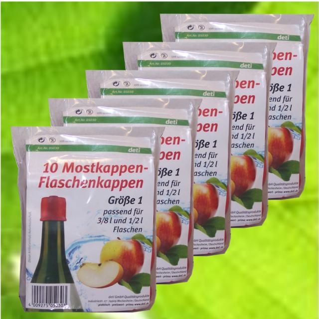 Deti Mostkappen Gr.1 Gummikappen Flaschenverschluss  5x10 Stück