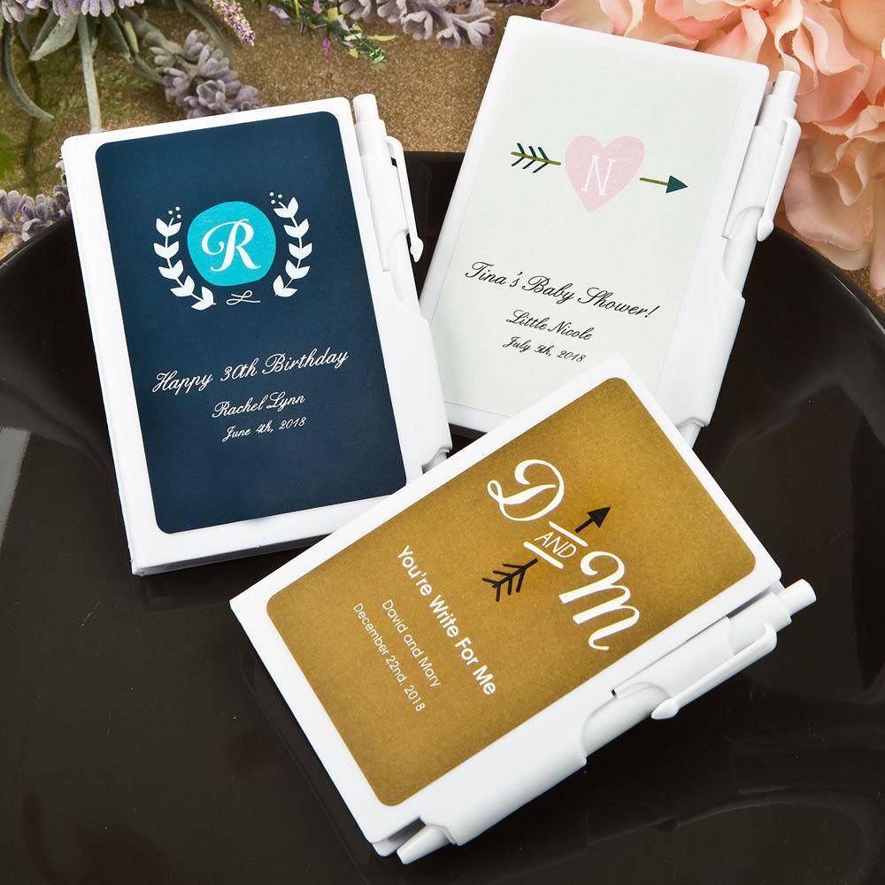 50-200 personnalisé monogramme Design ordinateurs portables-Fête de mariage Favor