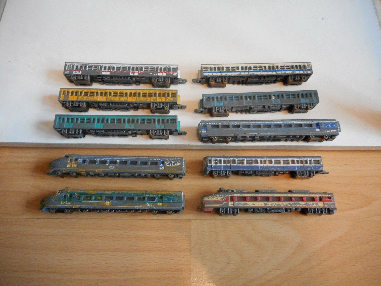 10 x ASC Trains on on on the scale 1 180 (Made in Japan) 8a73ea