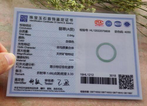 Certified Burma 100/% A ICY Green Circle Jade jadeite Ring US 4.25 to 9.5 #719753