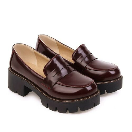 Details about  /Classic Womens Round Toe Office OL College Slip On Casual Low Heel Shoes 34//43 D