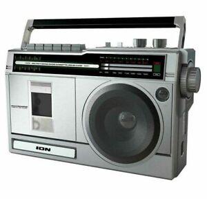 ION Audio Retro Rocker Portable Bluetooth Battery-Powered Cassette Boombox