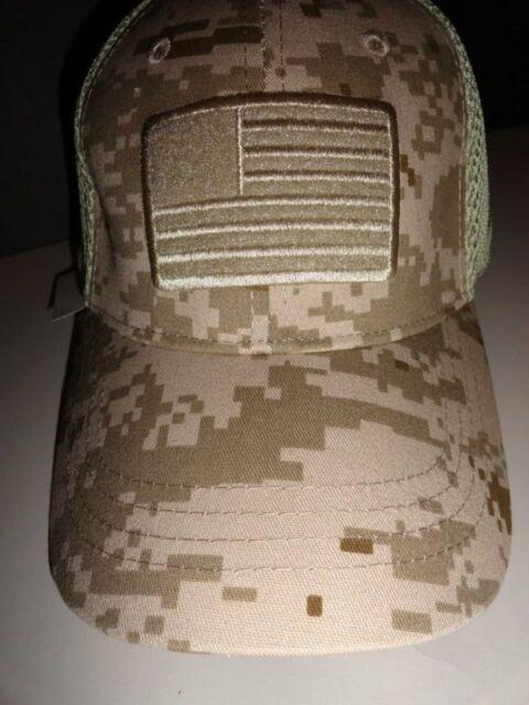 NWT Highland Tactical Flag Tan Beige Khaki Camouflage Mesh Hat OSFM