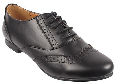 Niñas Niños Niños Zapatos Planos Con Cordones Inteligente Oficina Escuela Brogue Zapatos Talla