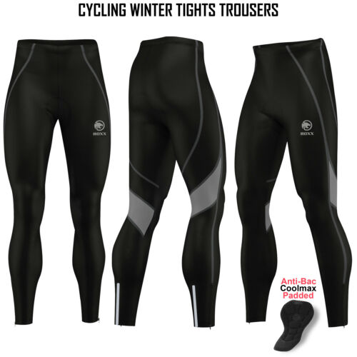 Mens Cycling winter Tights Thermal Padded Pants Cycle Long Trouser Legging ROXX