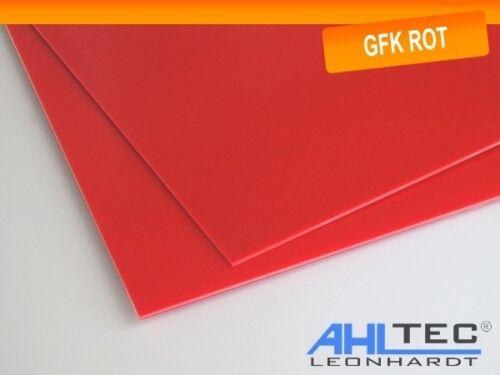 Dicke 0,5 mm Größe wählbar GFK Platte G10 FR4 rot Glasfaser