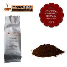 Caffè Arabica macinato fresco per espresso Costarica Don Roberto Terrazu 250 gr