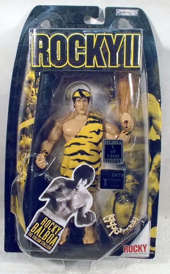 Rocky Balboa como cavernícola Rocky II 2 Movie Exclusive 1 de 1800 Jakks Pacific MOC