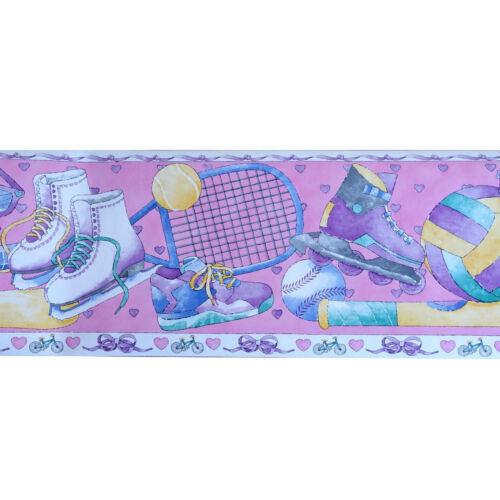 Tapetenborte 23 cm breite Bordüre AS 2433-17 Pink Sports 5m Borte
