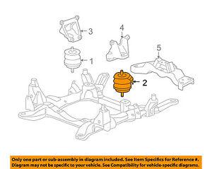 cadillac gm oem 05-10 sts-engine motor mount/torque strut 25971090 | ebay  ebay