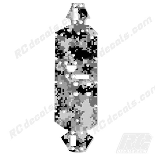Losi 8ight 2.0 4WD Buggy Chassis Protector Graphics Digital Camo White Losa0804