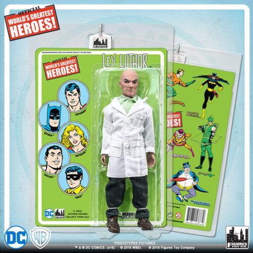 Official DC Comics Lex Luthor 8 in (environ 20.32 cm) action figure sur Rétro Style Rétro Carte