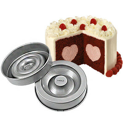 New Wilton HEART TASTY FANCY FILL Cake Tin Baking Pan in box with instructions