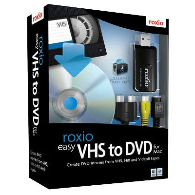 Roxio Easy Vhs To Dvd Retail 1 User S Full Version For Mac 243100 For Sale Online Ebay