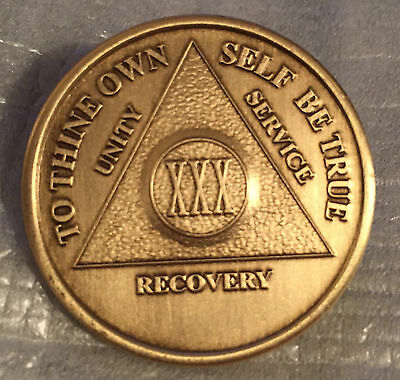 Alcoholics Anonymous 6 Month  Recovery Coin Chip Medallion Medal Token AA Bronze