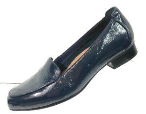 Clarks-Artisan-Women-039-s-Blue-Patent-Leather-Pumps-Heels-Shoes-Size-8-5M