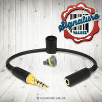 Black / Gray Lifeproof Iphone 5 Case Headphone Cable Adapter Holder & Jack Plug