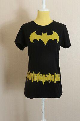 LADIES WOMENS DC COMICS BATMAN BATGIRL FOIL SYMBOL SHORT SLEEVE TEE T-SHIRT