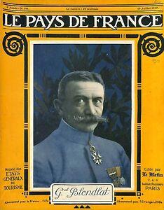 """Portrait Général Ernest Joseph Blondlat France/General Rouquemol Jardin 1917 WWI - France - Commentaires du vendeur : """"OCCASION OCCASION ATTENTION,QUE LA COUVERTURE, PAS LE JOURNAL ENTIER. Just the cover, not newspaper."""" - France"""