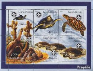 Disciplined Guinea-bissau 1584-1589 Sheetlet Unmounted Mint Never Hinged 2001 Turtles Stamps