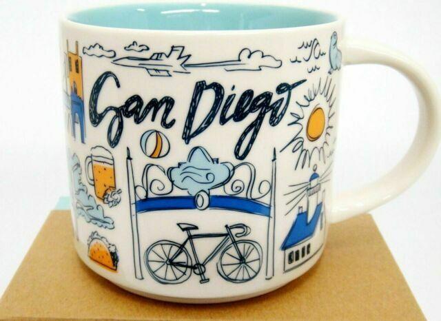 Starbucks San Diego California Been There Mug 2018 Blue Interior 14 Oz for sale online   eBay
