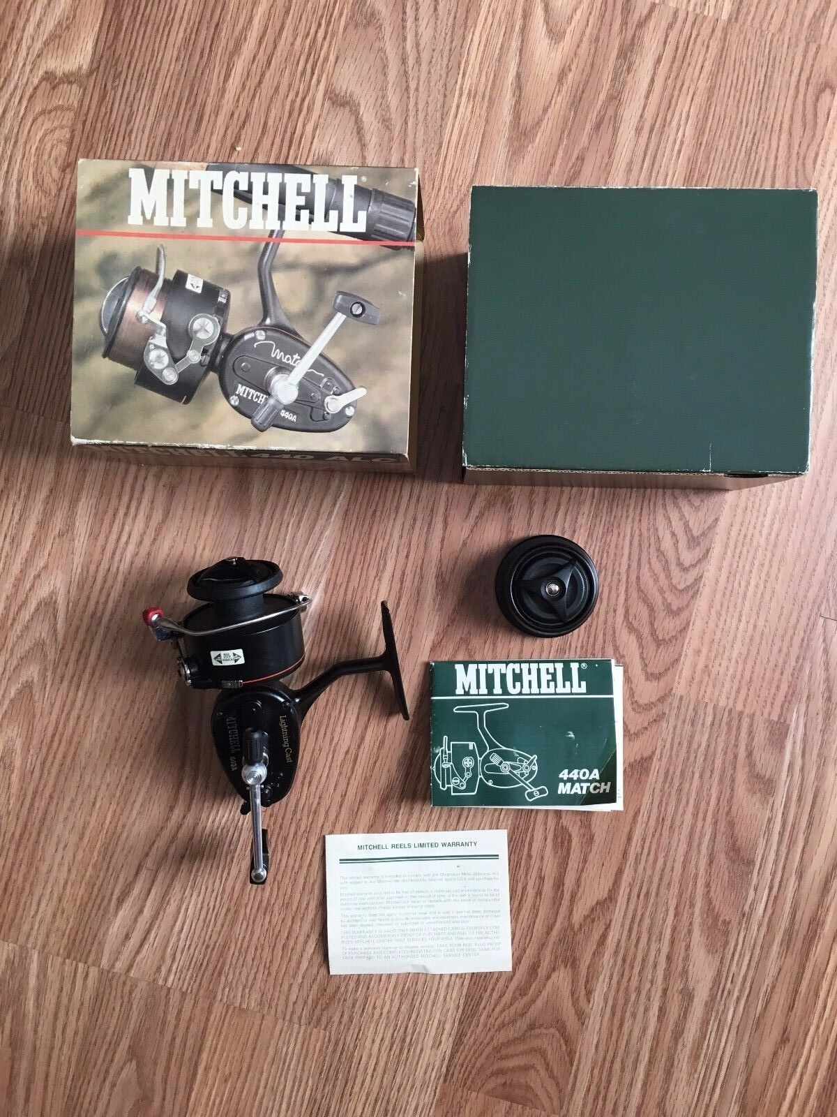 Vintage Mitchell 440a  Lightining Cast spinning reel in box with papers    UNUSED  popular