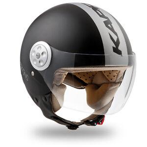 CASCO-CASQUE-MOTO-SCOOTER-HELMET-HELME-JET-KAPPA-KV2B-BIANCO-NERO-OPACO