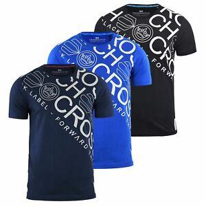 Para-Hombres-Crosshatch-Camiseta-Cuello-redondo-Prenda-para-el-torso-Camiseta-diagwol
