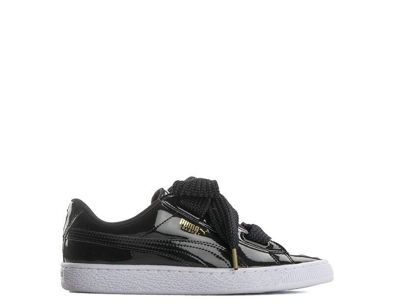 shoes PUMA women SNEAKERS  black Verniciato 0363073-01