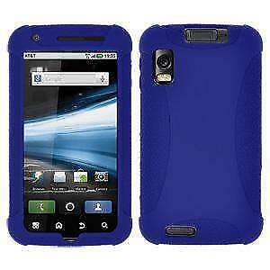 AMZER-SILICONE-SOFT-SKIN-JELLY-FIT-CASE-COVER-FOR-MOTOROLA-ATRIX-4G-MB860-BLUE