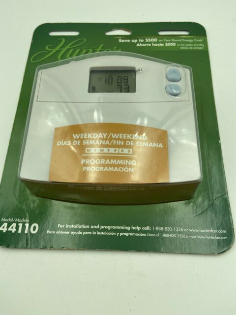 Hunter Set  U0026 Save Programmable Thermostat 44110 For Sale