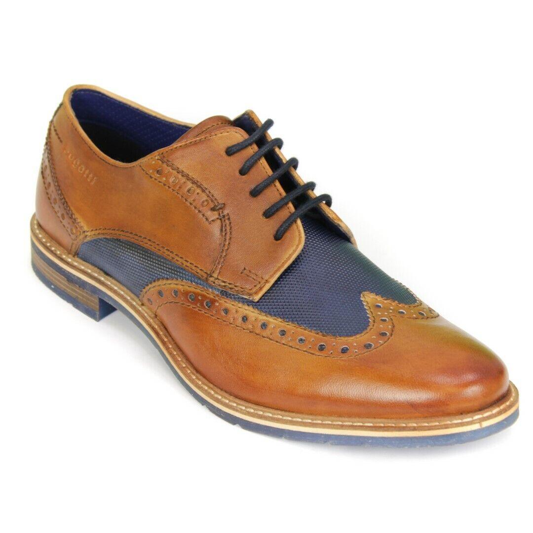 Bugatti Chaussures Hommes Chaussure Lacée Bleu Marron 311 25904 3535 6341 Cognac bleu