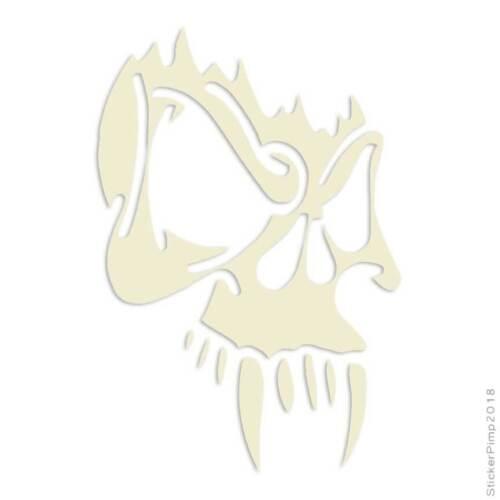 Vampire Skull Tribal Decal Sticker Choose Color Large Size #lg715