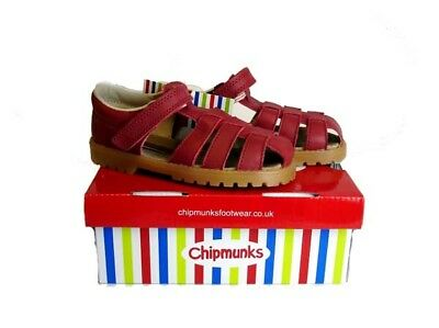Chipmunks Burgundy Leather Infant Shoes Uk 4 Brand New