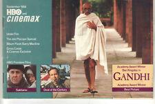 HBO and Cinemax Guide September 1984 BEN KINGSLEY 'Gandhi' Cover