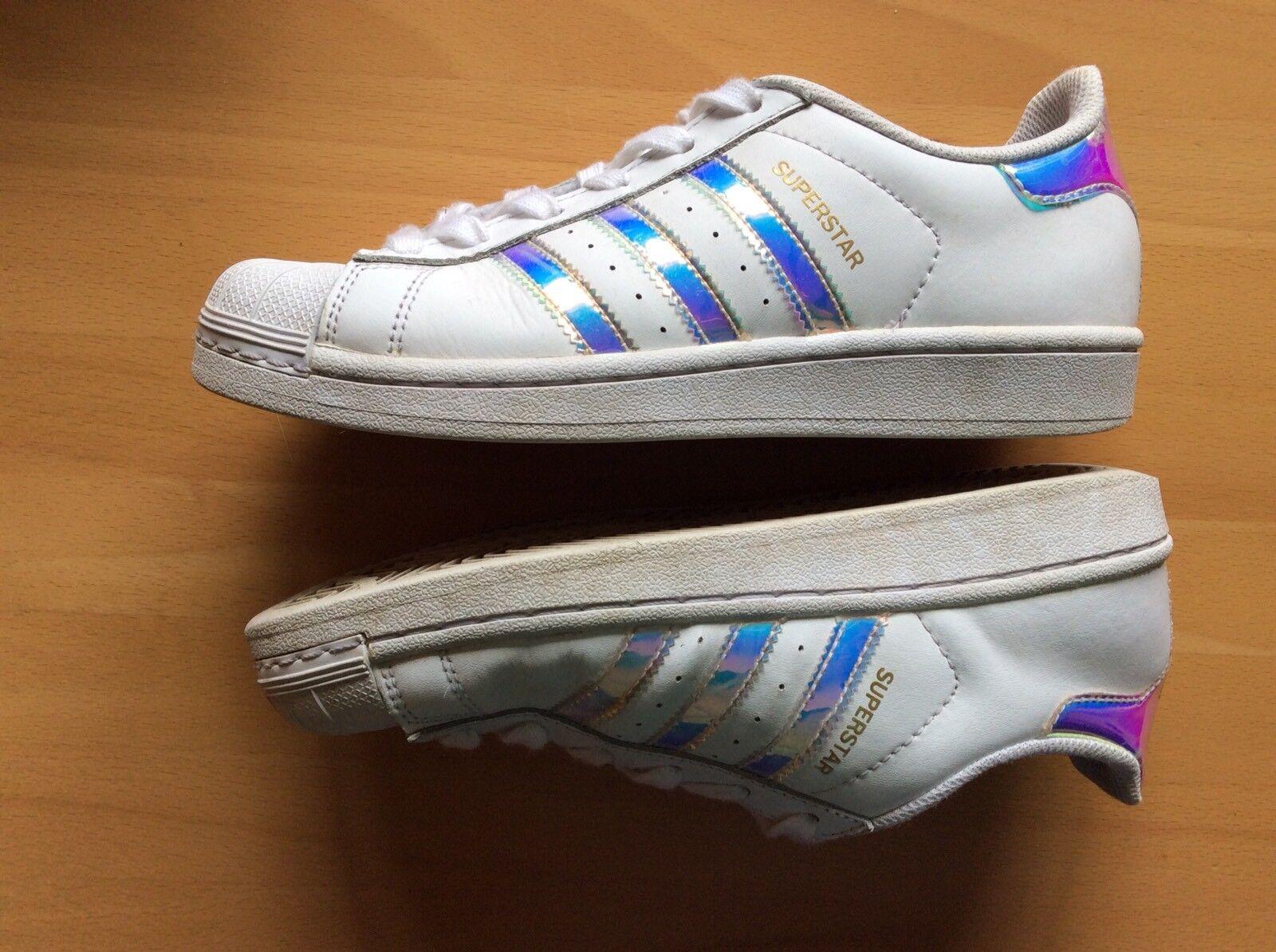 ⭐️ ADIDAS Holo ⭐️ Superstar weiß Holo ADIDAS 36 2/3 Damenschuhe Sneaker Turnschuhe 78ab43