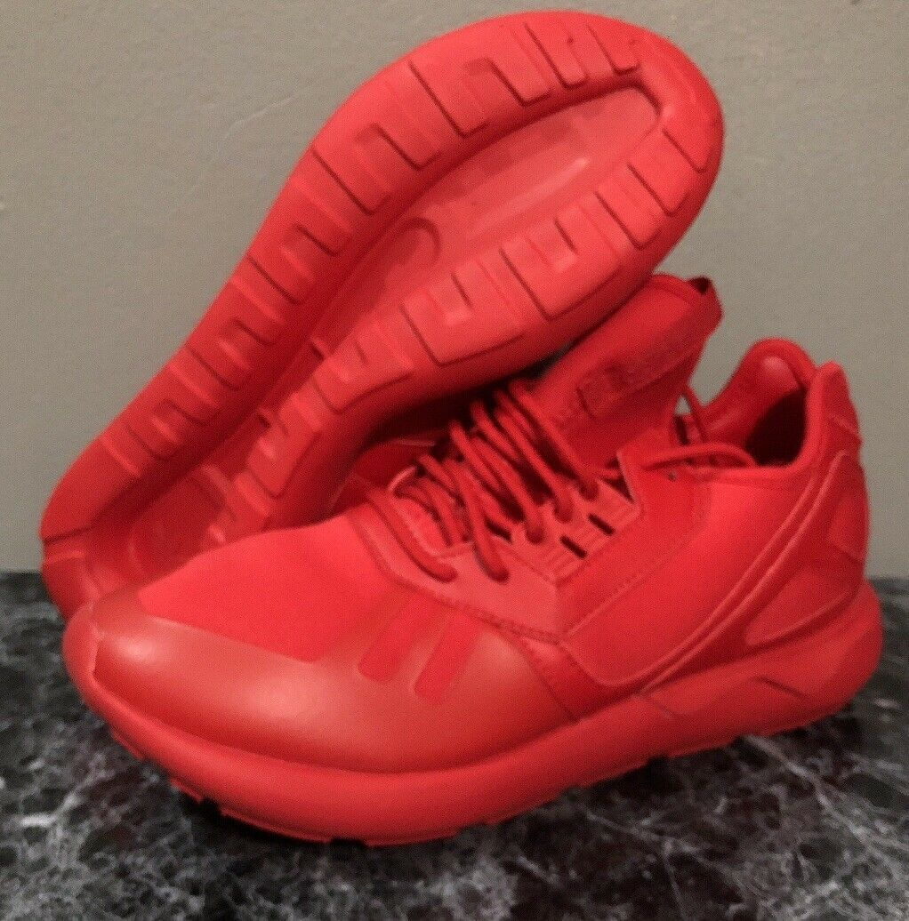 Adidas MEN Tubular Runner (SCARLET) *NEW* all red