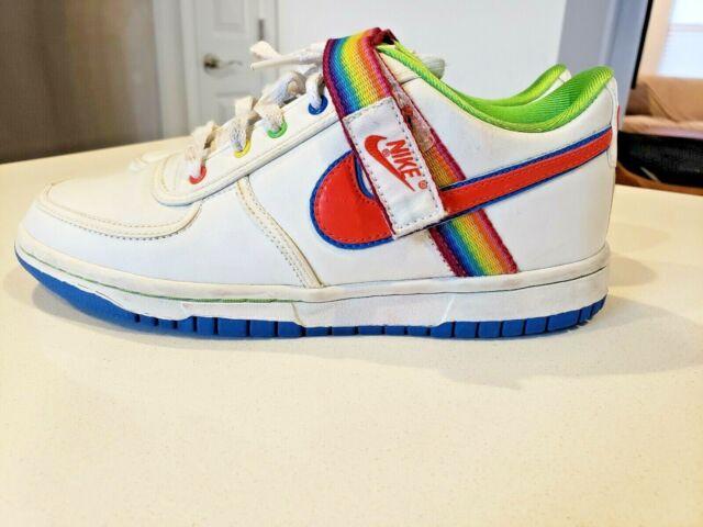 RARE Nike Vandal Low Youth Rainbow