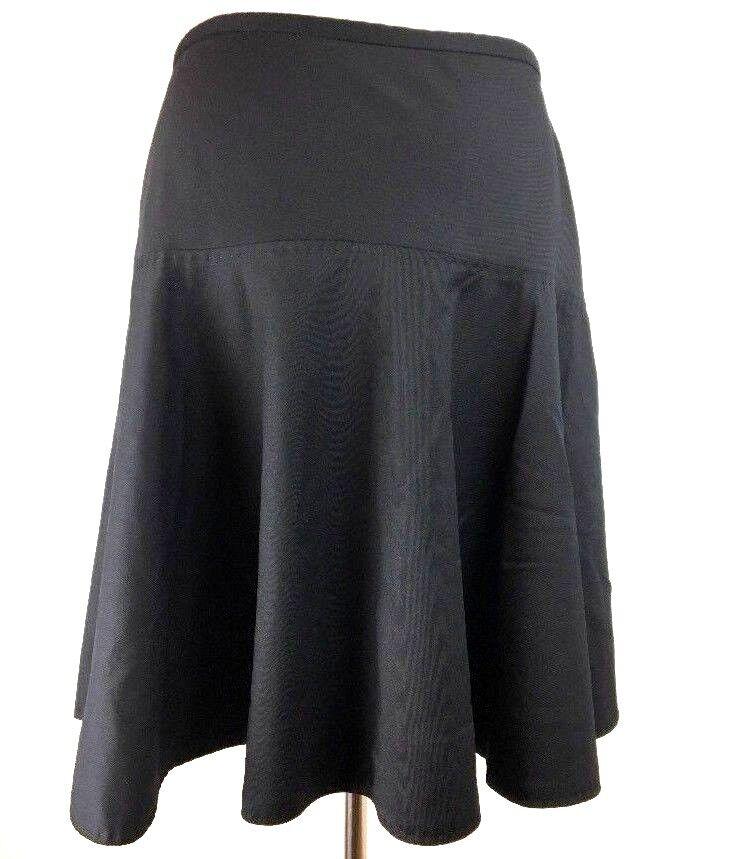 Marc Jacobs Womens Skirt 6 S Full Flare Navy bluee Below Knee Wool Blend Work