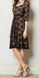 7ef8194de1a Marc Bouwer Made in Kind Lace Sava Dress Size 8 Black NW ...
