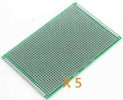 5* 8cmx12cm 8*12cm Double-sided Tinned Solderable PCB Board Breadboard